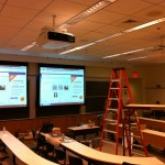 Wharton Dual Projector Screens